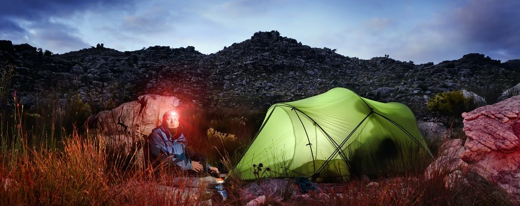 Head Torch + tent