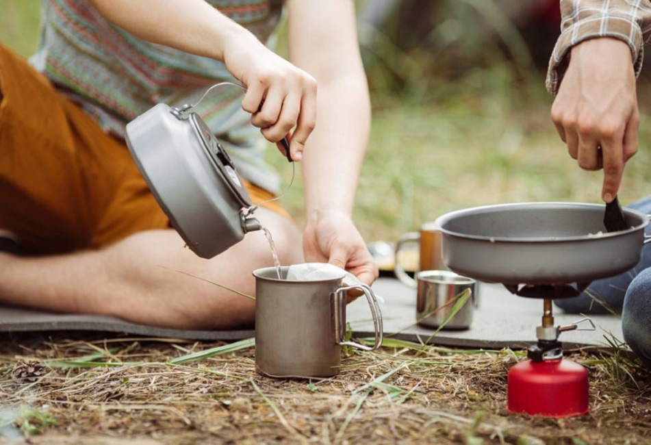 Camp + Stove + Kettle