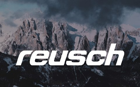 Mountain range image with Reusch Logo