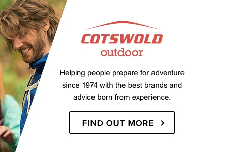 Two men next to the first Cotswold Outdoor shop